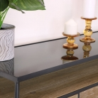 Large Industrial Grey Console Table with Shelves