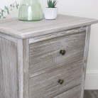 3 Drawer Wooden Bedside Table - Temperley Range - SECOND