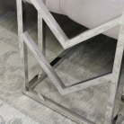 Silver Metal & Glass Leather Side Table