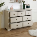 7 Drawer Taupe-Grey Chest of Drawers - Davenport Taupe-Grey Range
