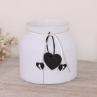 White Frosted Glass Jar