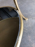 Large Gold Oval Mirrored Coffee Table - IMPERFECT SECOND
