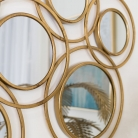 Abstract Multi Circle Gold Mirror 70cm x 130cm