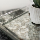 Antique Glass Tray