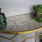 Antique Gold Metal Table
