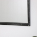 Antique Silver Metal Rectangle Window Mirror
