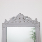 Antique Taupe Wall Mirror 36cm x 55cm