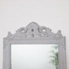 Antique Taupe Wall Mirror 36cm x 55cm