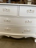 Antique White 4 Drawer Chest of Drawers - Pays Blanc Range DAMAGED SECOND 5903