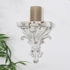 Antique White Wall Sconce Style Shelf
