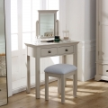 Bedroom Furniture, Large Chest of Drawers, Dressing Table Set & Pair of Bedside Tables - Davenport Taupe-Grey Range