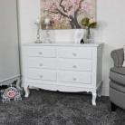 Lila Range - Furniture Bundle, Dressing Table, Mirror, Stool, Six Drawer Chest & 2 Bedside Chest
