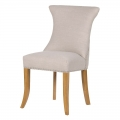 Beige Studded Dining Chair with Ring Back
