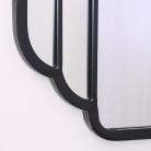 Black Art Deco Wall Mirror 71cm x 105cm