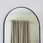 Black Framed Arch Wall Mirror