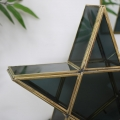 Black & Gold Glass Star Candle Holder