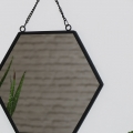 Black Hexagonal Wall Mirror