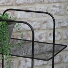 Black Metal Magazine Rack Side Table