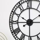 Black Metal Skeleton Clock 60cm x 60cm