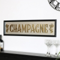Black Retro Champagne Pub Wall Mirror