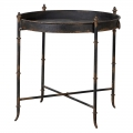 Black Metal Industrial Tray / Side Table
