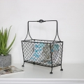 Black Vintage Magazine Rack