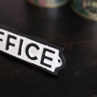 Black & White Metal Office Plaque