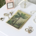 Botanical Palm Tree Glass Trinket Tray