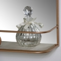 Brass Metal Vanity Wall Mirror with Shelf