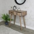 Brixham Range - Two Drawer Wooden Console Table