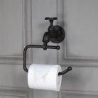 Rustic Metal Tap Toilet Roll Holder