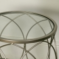 Champagne Silver Swirl Occasional Table