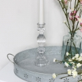 Clear Glass Candlestick