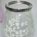Clear Glass Floral Tealight Holder