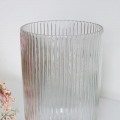 Clear Hurricane Glass Vase
