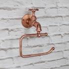 Copper Metal Tap Toilet Roll Holder