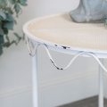 Cream Distressed Iron Side Table
