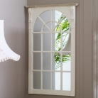 Cream Large Window Wall Mirror - Lyon Range