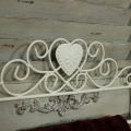 Cream Metal Heart Towel Rail