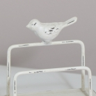Cream Metal Letter Rack with Bird Detail
