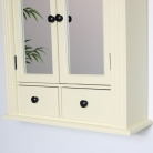 Cream Mirrored Bathroom Wall Cabinet