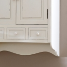Cream Wall Mounted Cupboard with Drawers - Lyon Range