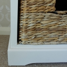 Cream Wicker Storage Unit - One Drawer/ Four Baskets