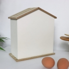 Cream Wooden Egg House