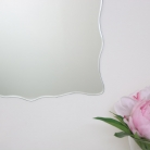Curved Frameless Bevelled Wall Mirror 38cm x 50cm