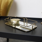 Curved Gold Mirrored Tray
