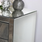 Curved Venetian Mirrored 3 Drawer Chest