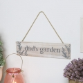 Dads Garden Rustic Wall Sign