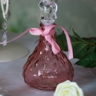 Decorative Dark Pink Glass Perfume Bottle