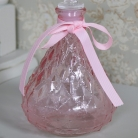 Decorative Pink Glass Perfume Bottle